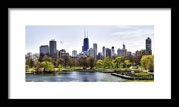 Chicago Photographs Framed Print featuring the photograph The Chicago Skyline Day-001 by David Allen Pierson