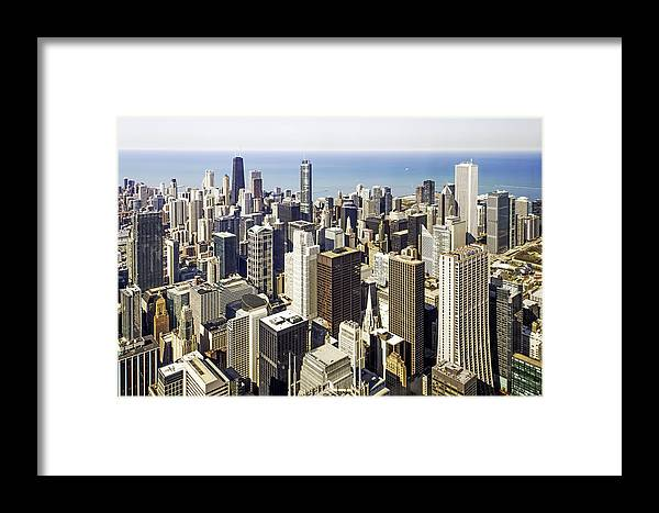 Photos Framed Prints Framed Print featuring the photograph The Chicago Skyline From Sears Tower-001 by David Allen Pierson