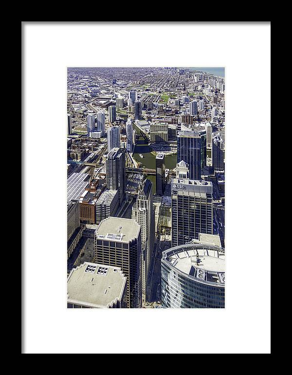 Photos Framed Prints Framed Print featuring the photograph The Chicago Skyline From Sears Tower-005 by David Allen Pierson