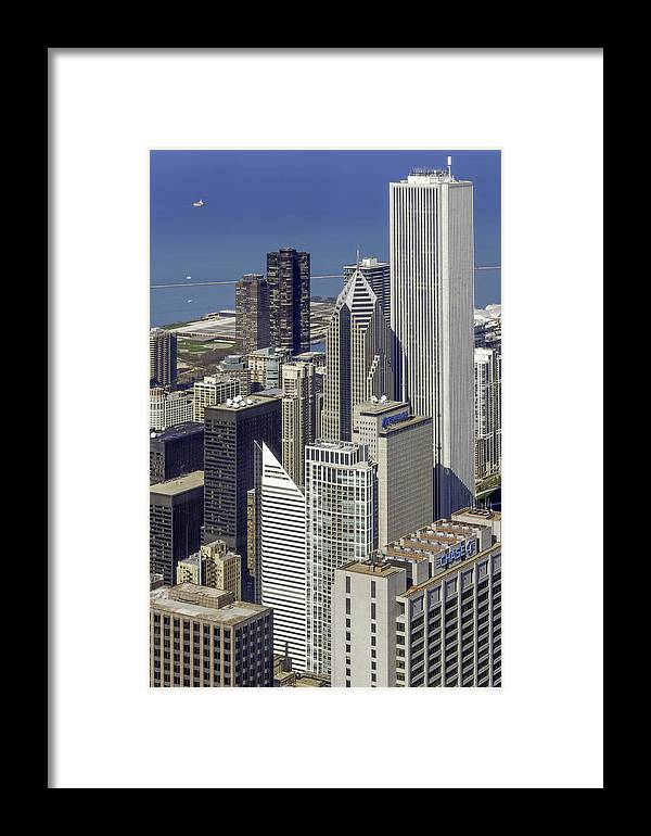 Photos Framed Prints Framed Print featuring the photograph The Chicago Skyline From Sears Tower-006 by David Allen Pierson