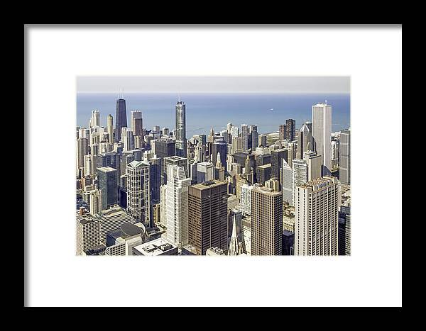 Photos Framed Prints Framed Print featuring the photograph The Chicago Skyline From Sears Tower-009 by David Allen Pierson