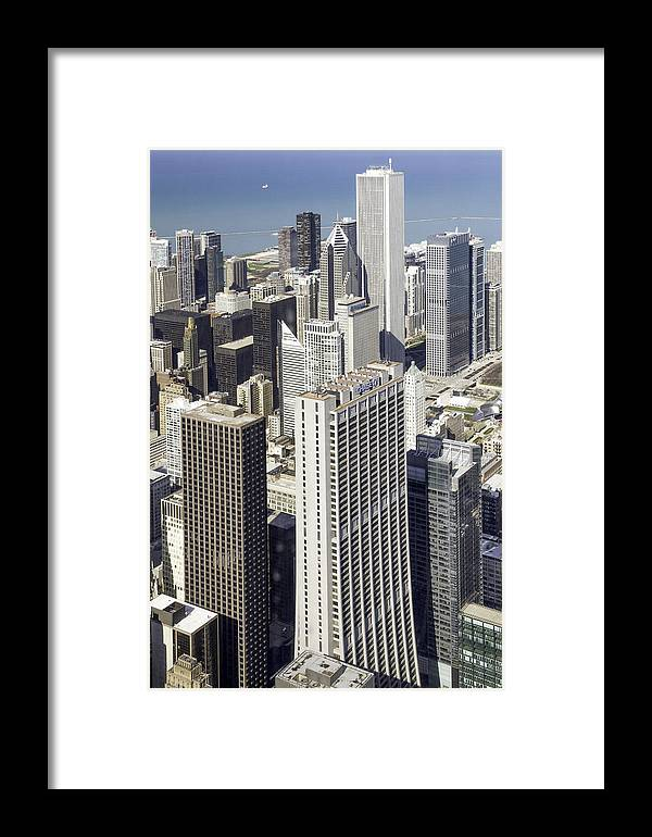Photos Framed Prints Framed Print featuring the photograph The Chicago Skyline From Sears Tower-010 by David Allen Pierson
