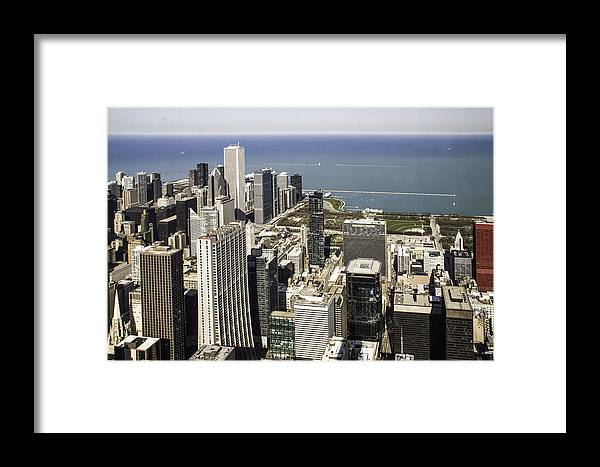 Photos Framed Prints Framed Print featuring the photograph The Chicago Skyline From Sears Tower-011 by David Allen Pierson