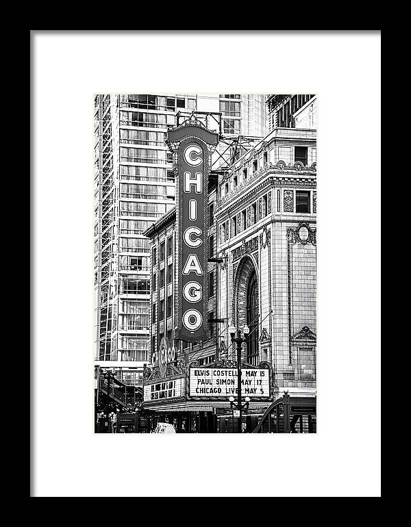 Chicago Photographs Framed Print featuring the photograph The Chicago Theatre by David Allen Pierson