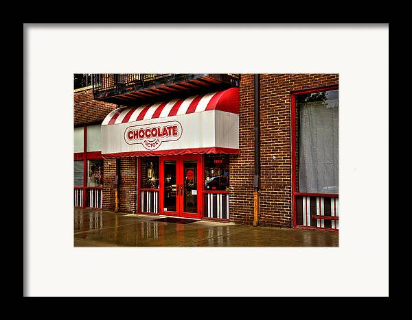 Chocolate Framed Print featuring the photograph The Chocolate Factory by David Patterson