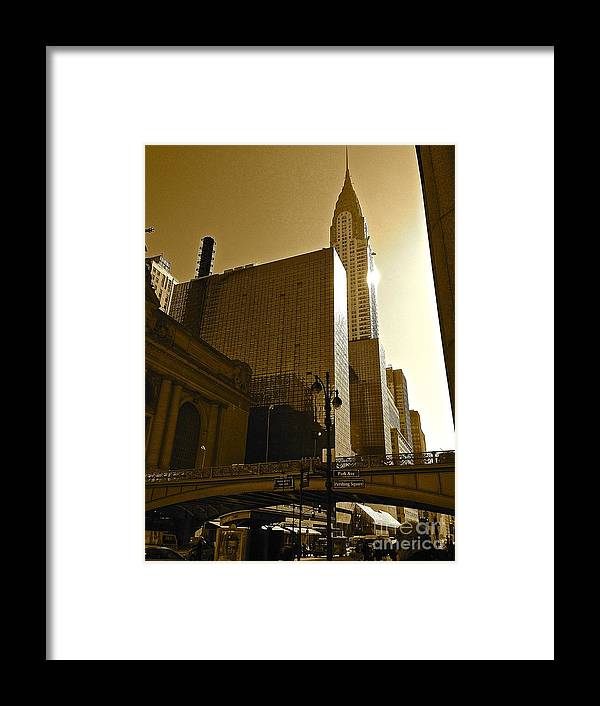 Nyc Framed Print featuring the photograph The Chrysler Building In Nyc by Christy Gendalia