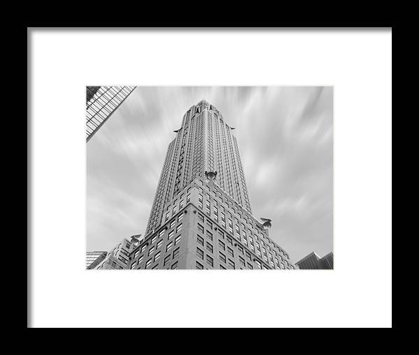 Landmarks Framed Print featuring the photograph The Chrysler Building by Mike McGlothlen