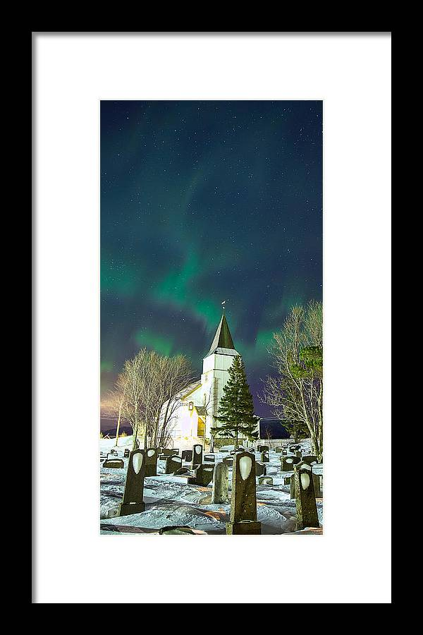 Aurora Framed Print featuring the photograph The Church by Anders Hanssen