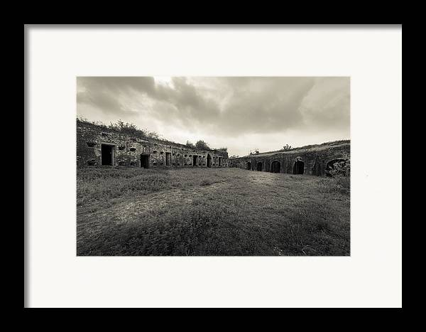Fort Macomb Framed Print featuring the photograph The Citadel At Fort Macomb by David Morefield