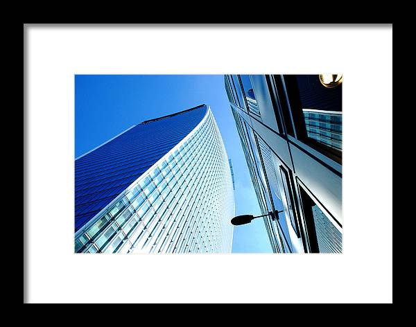 Art Framed Print featuring the photograph The City Buildings by Wojciech Olszewski