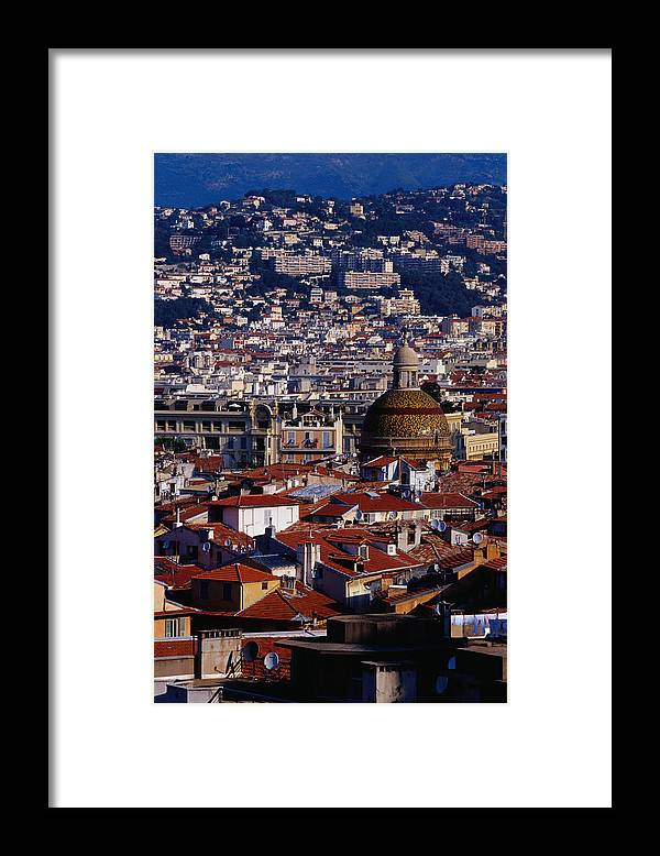 French Riviera Framed Print featuring the photograph The City From Parc Du Chateau Castle by Richard I'anson