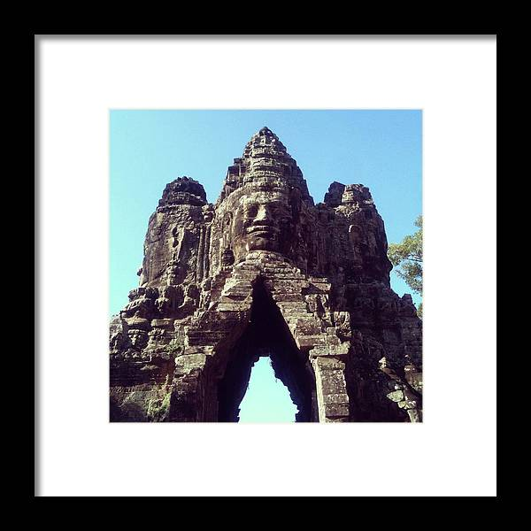 Arch Framed Print featuring the photograph The City Gates At Angkor by Lasse Kristensen