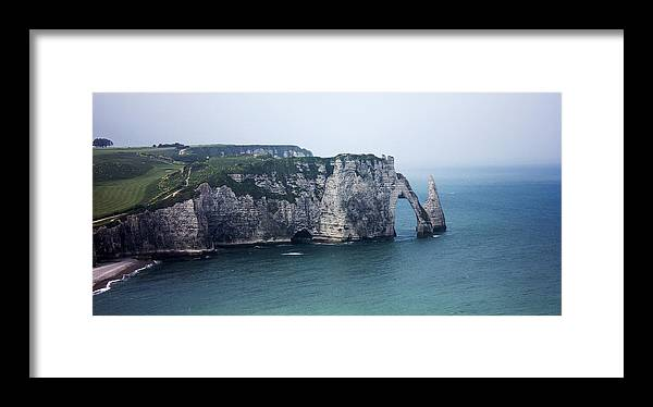 Normandy Framed Print featuring the photograph The Cliffs At Etretat by Katie Dillon
