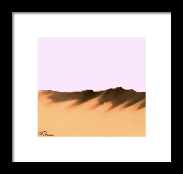 Fineartamerica.com Framed Print featuring the painting The Cliffs  Number 12 by Diane Strain