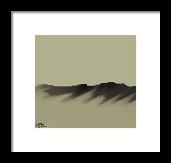 Framed Print featuring the painting The Cliffs  Number 6 by Diane Strain