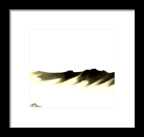Framed Print featuring the painting The Cliffs  Number 7 by Diane Strain