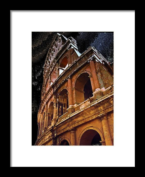 Asylum Framed Print featuring the photograph The Colisium by Perry Frantzman