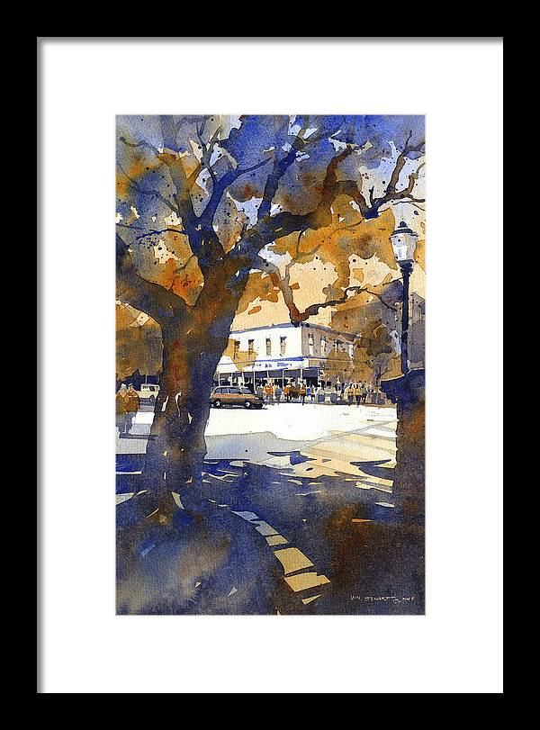 Toomers Oaks Framed Print featuring the painting The College Street Oak by Iain Stewart