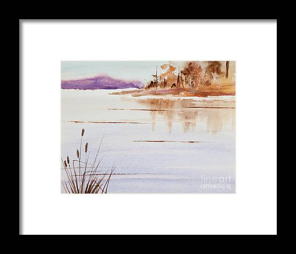 The Color Of Autumn Framed Print featuring the painting The Color Of Autumn by Michelle Constantine