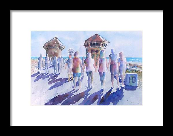 Friends Framed Print featuring the painting The Color Of Friendship by Debbie Lewis