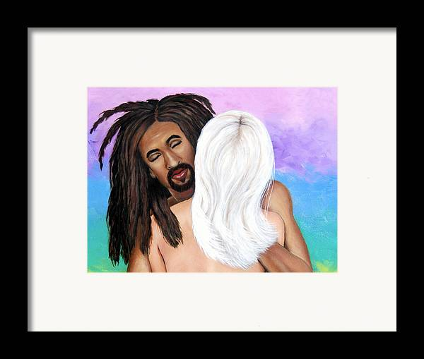 Diversity Framed Print featuring the painting The Color Of Love II by Donna Proctor