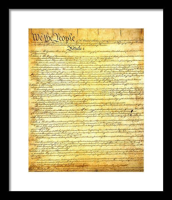 Museum Quality Constitution Framed Art Prints Fine Art