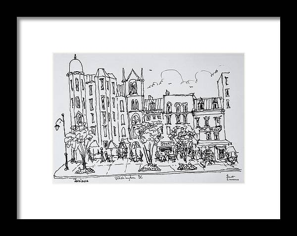 9th Street Framed Print featuring the photograph The Corner Of F And 9th Street by Richard Lawrence