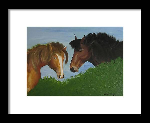 Horses Framed Print featuring the painting The Couple by Nydia Williams