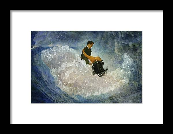Dance Framed Print featuring the painting The Couple's First Dance by Angela Stanton