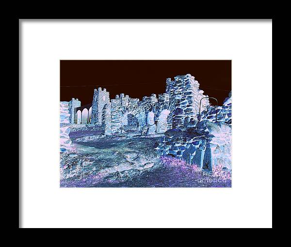 Landscape Framed Print featuring the photograph The Court Yard by Mickey Harkins
