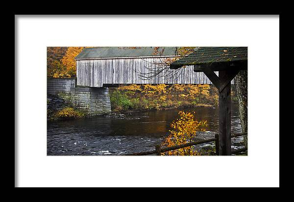 Covered Bridge Framed Print featuring the photograph The Covered Bridge by Don Powers
