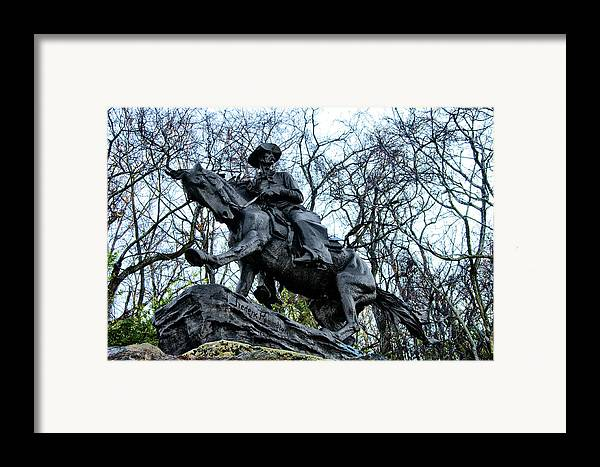 The Cowboy Framed Print featuring the photograph The Cowboy by Bill Cannon