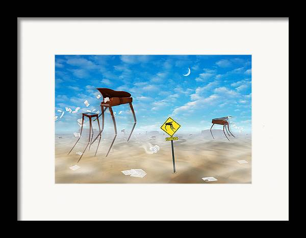 Surrealism Framed Print featuring the photograph The Crossing by Mike McGlothlen
