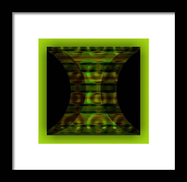 Digital Graphic Framed Print featuring the digital art The Curtain - Green by Mihaela Stancu