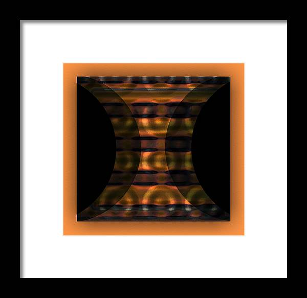Digital Graphic Framed Print featuring the digital art The Curtain - Light Orange by Mihaela Stancu