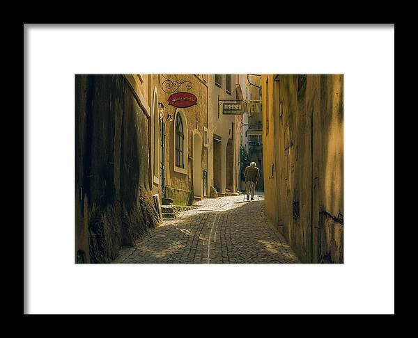 Alleyway Framed Print featuring the photograph The Daily Ritual by Chris Fletcher