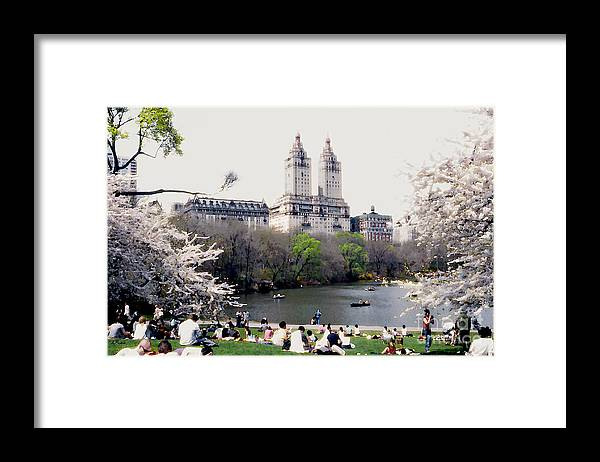 Abstract Framed Print featuring the photograph The Dakota From Central Park by Linda Parker