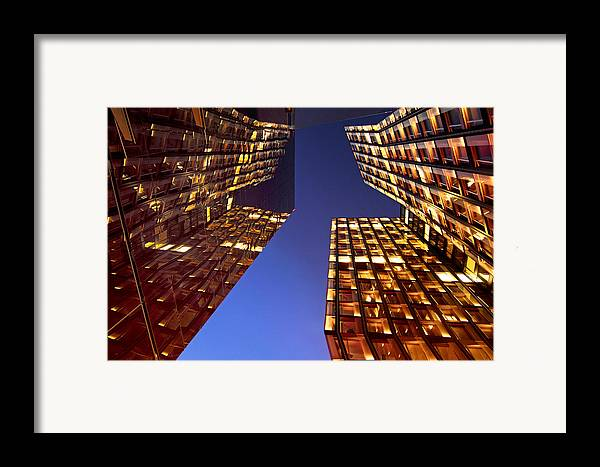 Architectur Framed Print featuring the photograph The Dancing Towers by Marc Huebner