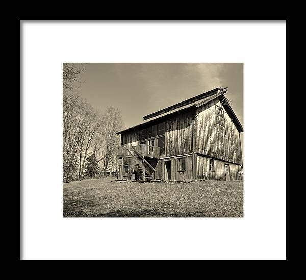 B&w Framed Print featuring the digital art The Darkside by Sue Rosen