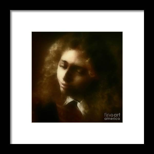 Girl Framed Print featuring the painting The Daydream by RC DeWinter