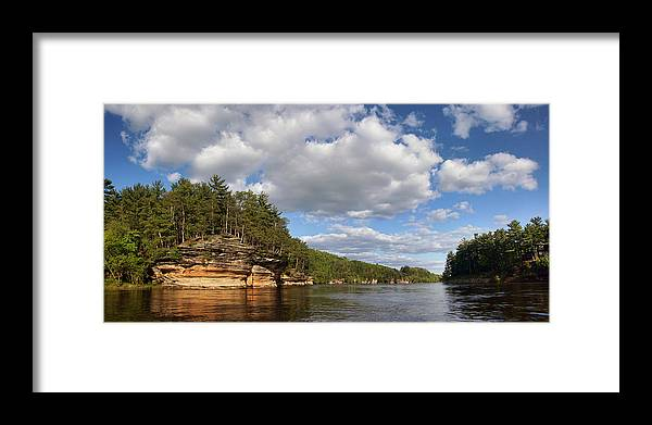 Wisconsin River Framed Print featuring the photograph The Dells Of The Wisconsin River by Leda Robertson