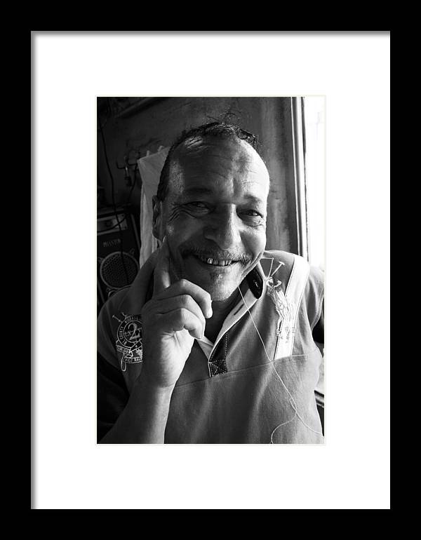 Jezcself Framed Print featuring the photograph The Demon Barber by Jez C Self