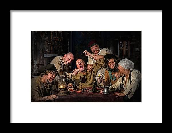 The Dentist Homage To Caravaggio Framed Print By Derek Galon Ma
