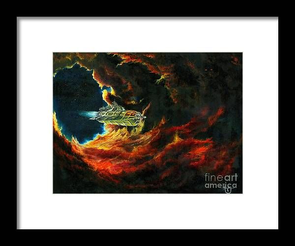Devil Framed Print featuring the painting The Devil's Lair by Murphy Elliott