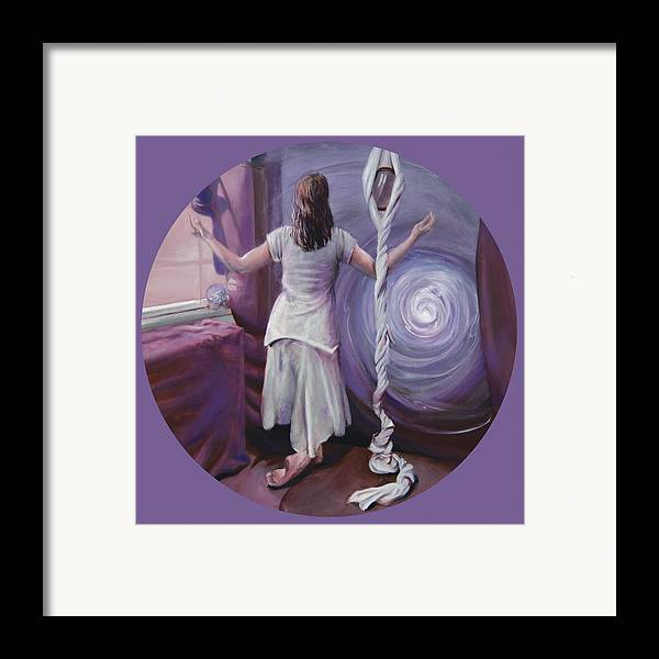 Shelley Irish Framed Print featuring the painting The Devotee by Shelley Irish