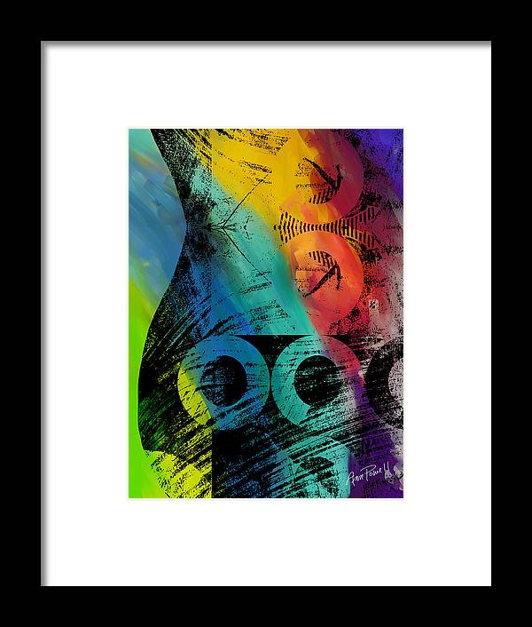Abstract Framed Print featuring the painting The Diagram Abstract Art by Ann Powell