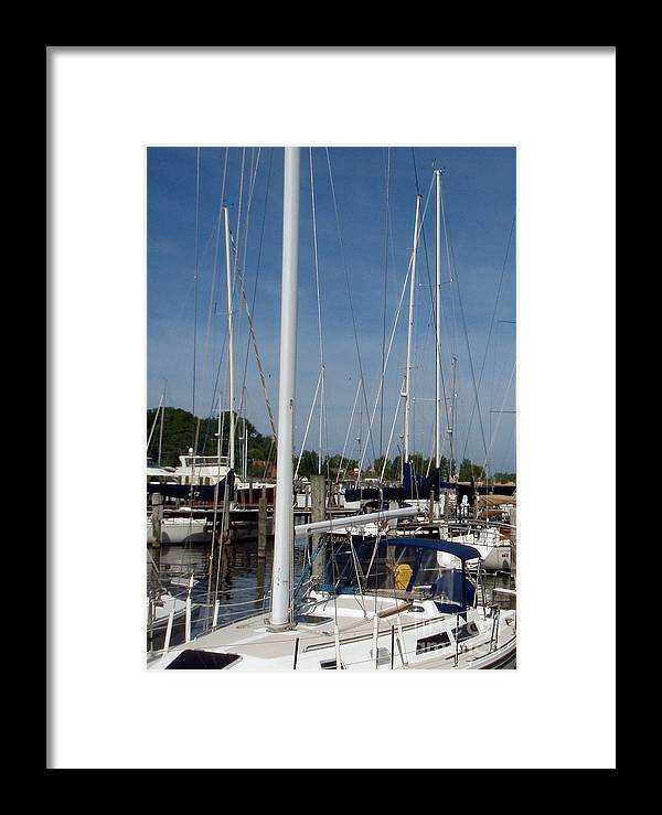 Boats Framed Print featuring the photograph The Dock by Heather Brown