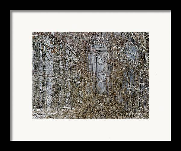 Abandoned Framed Print featuring the photograph The Door To The Past by Wilma Birdwell