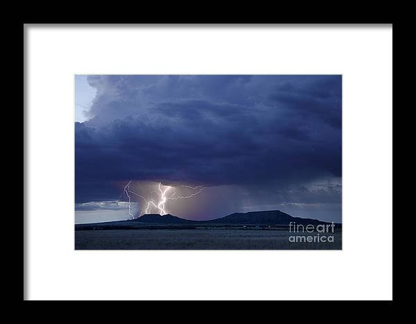 Ryan Smith Framed Print featuring the photograph The Double Mountains by Ryan Smith
