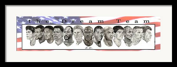 The Dream Team Framed Print featuring the painting the Dream Team by Tamir Barkan